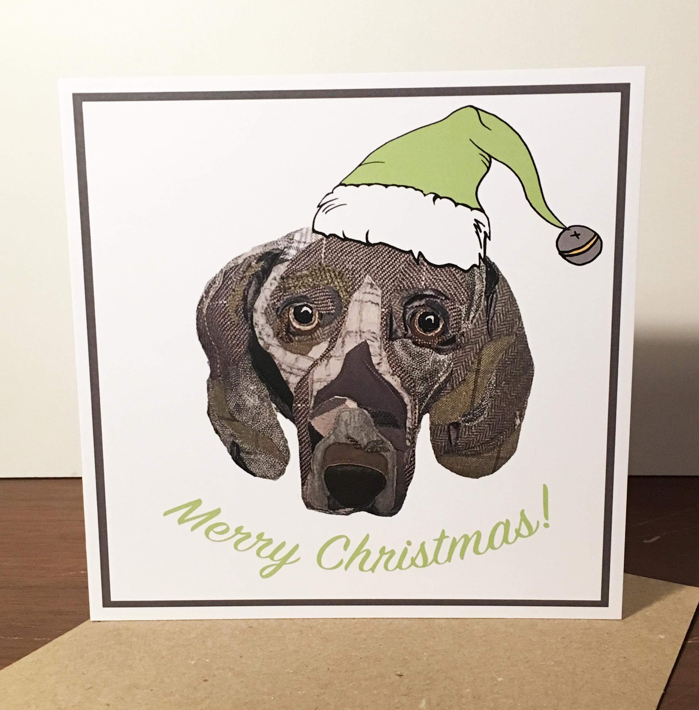Christmas cards- Weimaraner – Cushy Paws