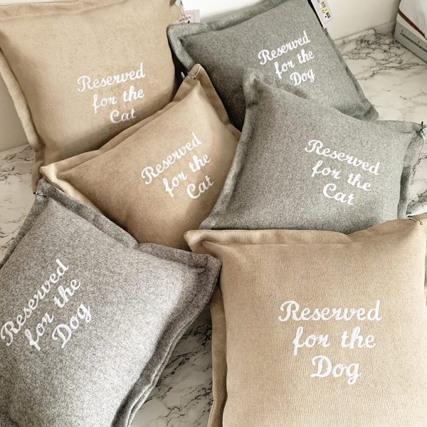 Reserved for the Dog Cushions