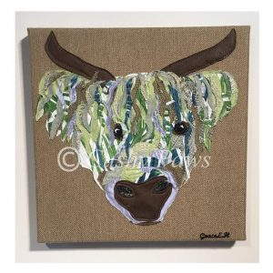 Highland Cow Collection- Brown/Green