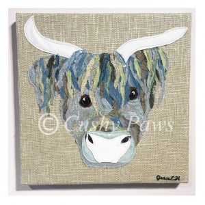 Highland Cow Collection- Green