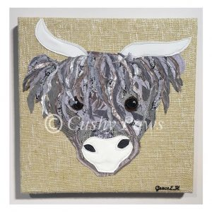 Highland Cow Collection- Yellow/Grey SOLD