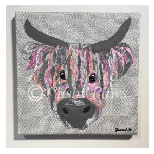 Highland Cow Collection- Pink  SOLD