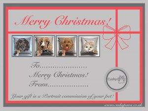 Christmas Pet Commission Gift Voucher (Cushion)