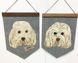 Pet Portrait Wall Hanging without name