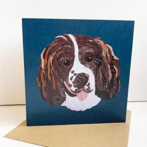Spaniel greeting card