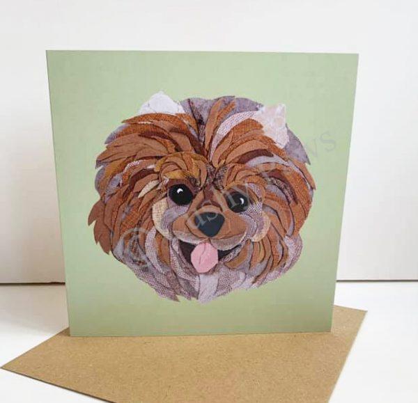 Pomeranian Dog Breed card