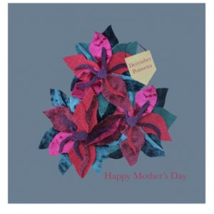 December poinsetta Mother's Day greetings card