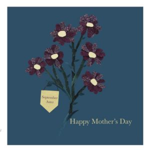September Aster Mother's Day greetings card