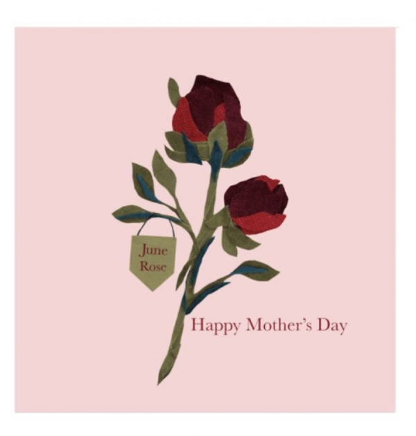 June Rose Mother's Day greetings card