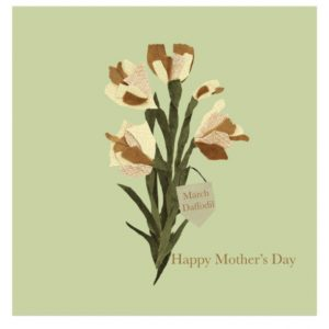 March Daffodil Mother's Day greetings card