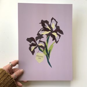 Floral birth month flower print for February- Iris