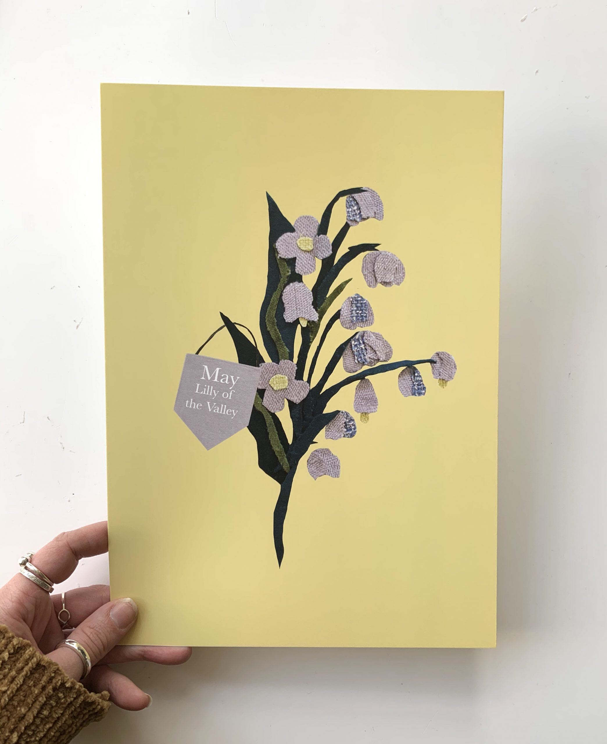 Floral birth month flower print for May- Lily of the Valley