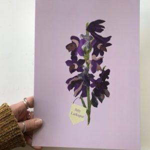 Floral birth month flower print for August- Gladiolus