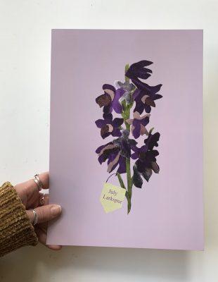 Floral birth month flower print for August- Gladiolus