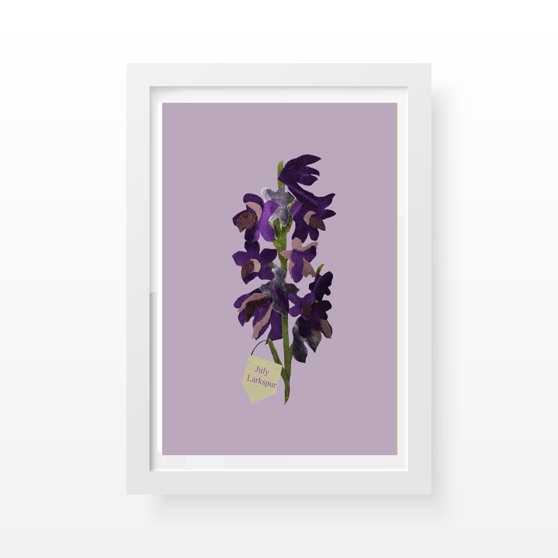 Larkspur floral Print- Cushy Paws
