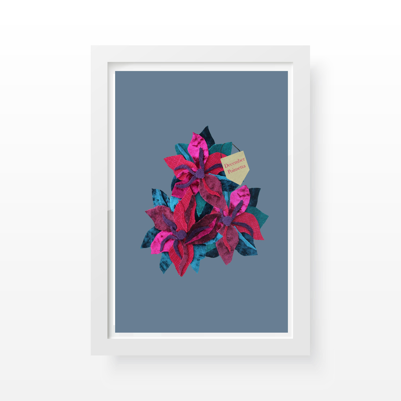Poinsetta Floral Print- Cushy Paws