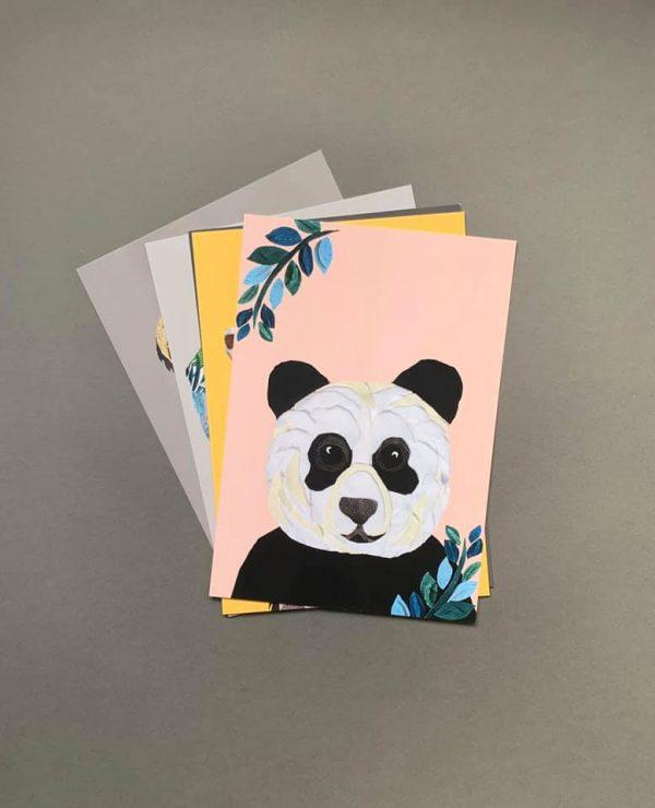 Pink Panda A4 print- Print collection