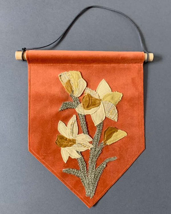 Orange Daffodil Wall Hanging