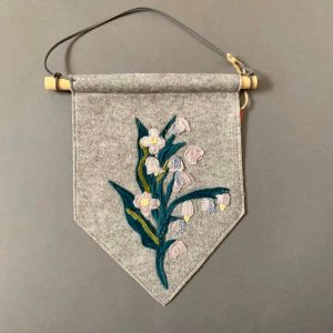 Original Textiles Wall Hanging- Lily of the valley