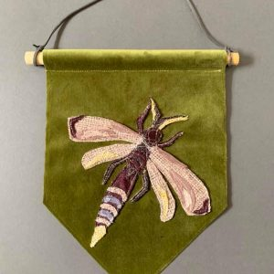 Original Textiles Insect Wall Hanging (Dragonfly- green)