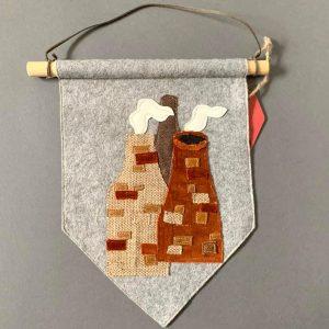 Original Textiles Wall Hanging- Potbank- Stoke-on-Trent