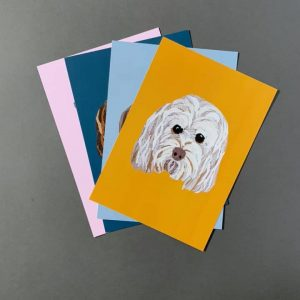 Cockapoo A4 Print - Mustard- Cushy Paws Print Collection