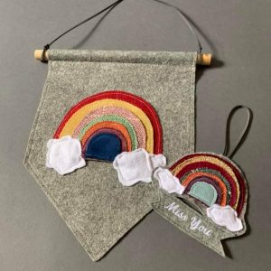 Multi Rainbow on grey