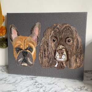 Commission Two Pet Portrait canvas without names