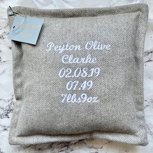 Personalised Baby/Engagement Cushion