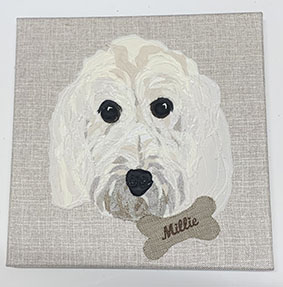 Commission Pet Portrait canvas with name