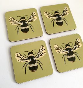Bee Coaster set of four