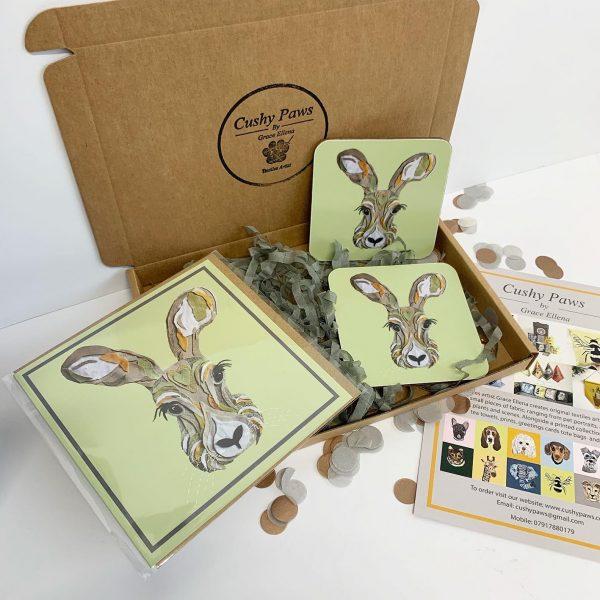 Hare Coaster Set- Cushy Paws