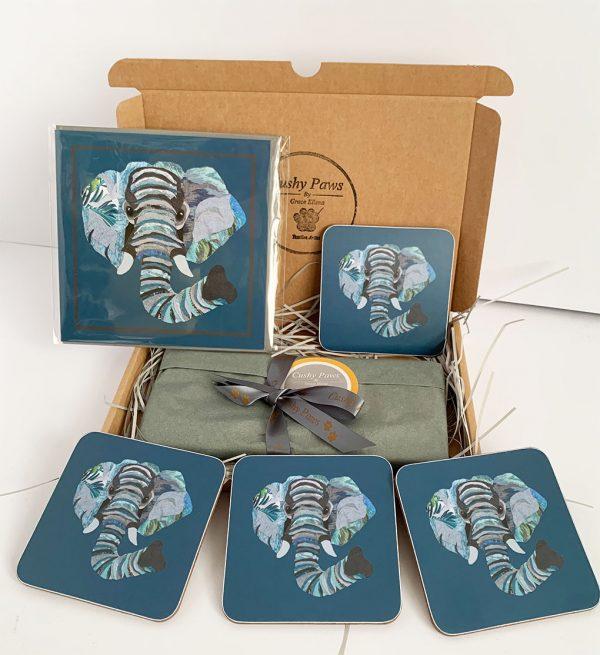 Set of four Elephant Coasters