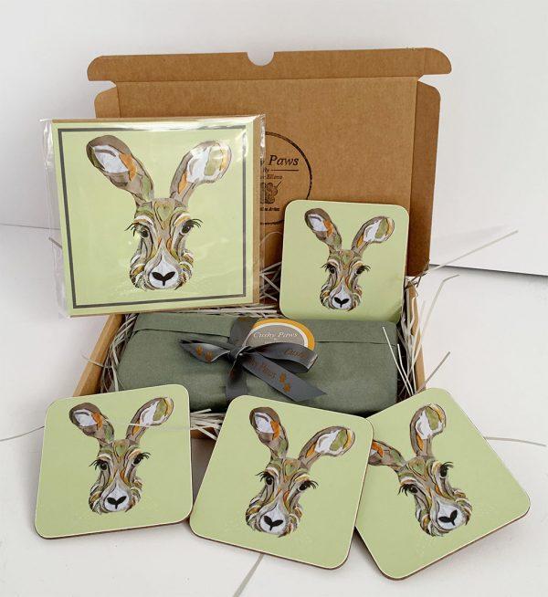 Set of four hare coatsers