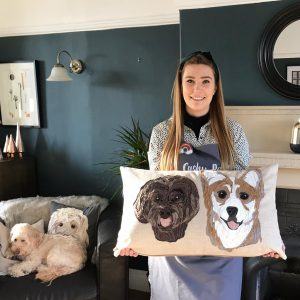 Dog Pet Portrait Cushion