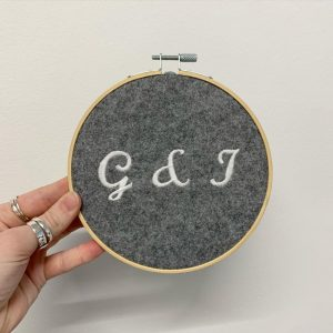 2.Personalised Initial Hoops