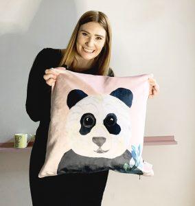 Panda Cushion Velvet