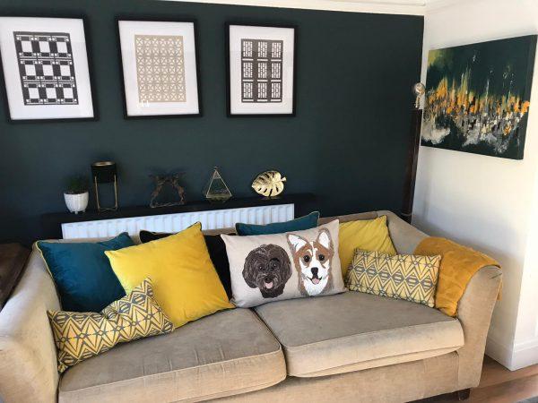 Personalised Pet Portrait Double Cushion