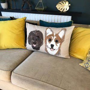 Double Face Pet Portrait Cushion
