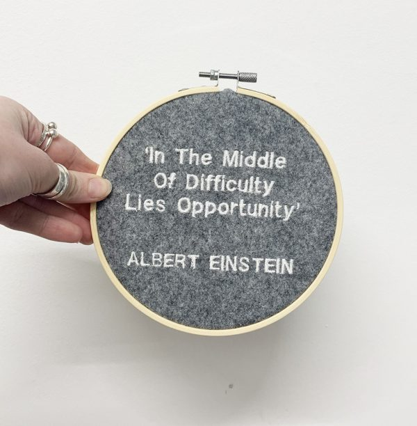 Personalised quote Embroidery