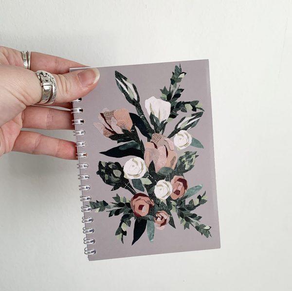 Pink Rose Notebook- Cushy Paws