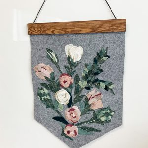 Pink Rose Wall Hanging