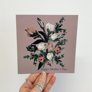 Pink Roses Mothers Day Card
