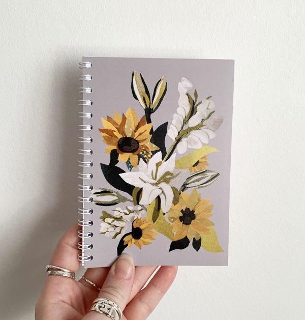 Sunflower Notebook- A6 Cushy Paws