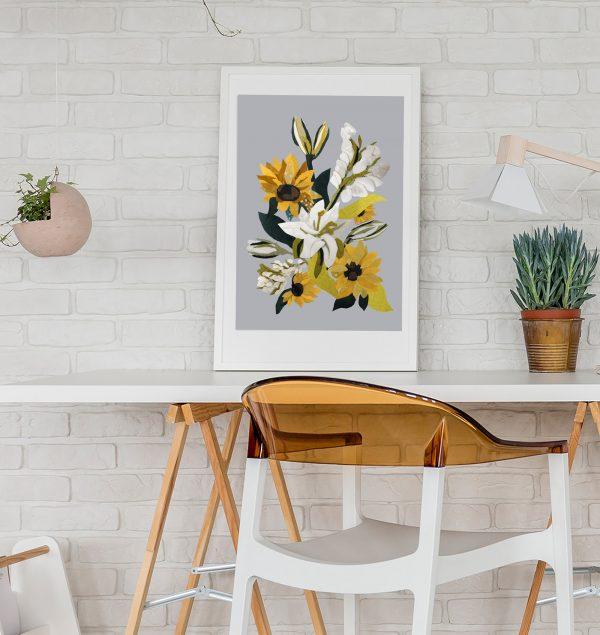 Sunflower Print in office