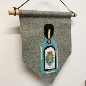 Gin Bottle Wall Hanging