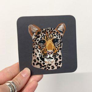leopard coaster