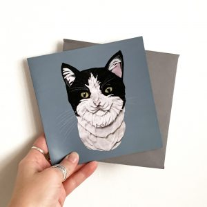Black and White Cat card