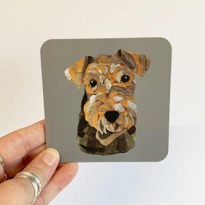 Lakeland terrier coaster single